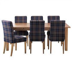 Стол и 6 стульев, морилка,антик, Рутна разноцветный. СТУРНЭС/ХЕНРИКСДАЛЬ